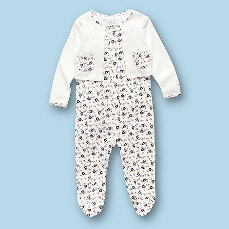 J by Jasper Conran - Designer Babies cream floral baby grow
