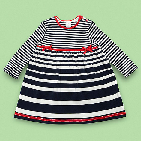 J by Jasper Conran - Designer Babies navy graduating striped jersey dress