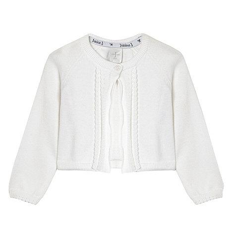 J by Jasper Conran - Designer Babies white scallop trim cardigan