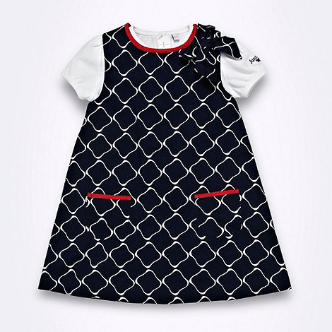 J by Jasper Conran - Designer Babies navy geometric a-line pinafore and bodysuit set