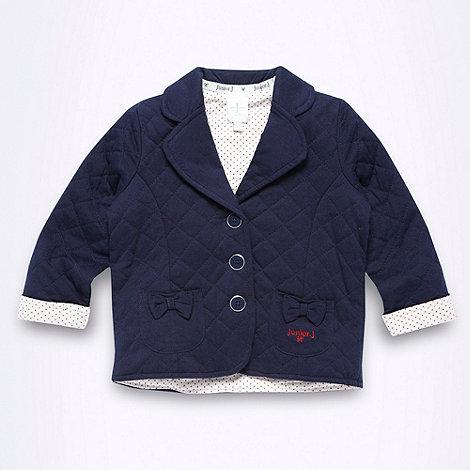 J by Jasper Conran - Designer Babies navy quilted jacket