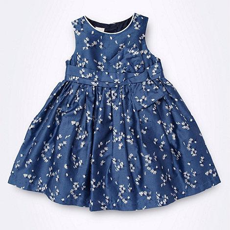 J by Jasper Conran - Designer Babies blue floral bow front dress