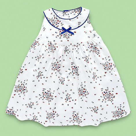 J by Jasper Conran - Designer Babies white ditsy sailor dress