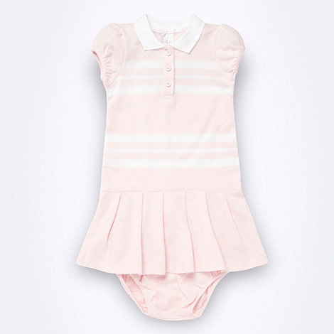 J by Jasper Conran - Designer Babies light pink polo dress body suit