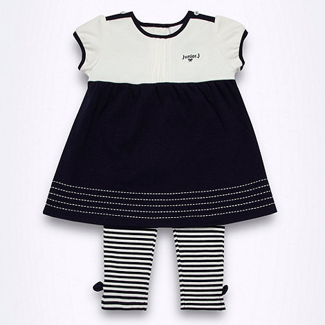 J by Jasper Conran - Designer Babies navy tunic and leggings set