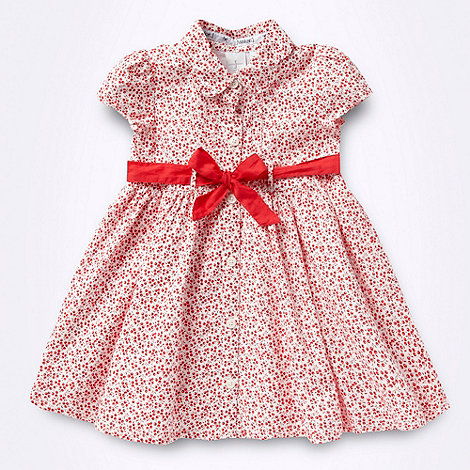 J by Jasper Conran - Designer Babies red cherry printed shirt dress