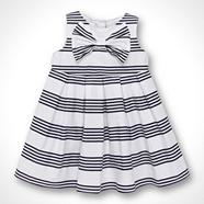 Designer Babies navy striped dress