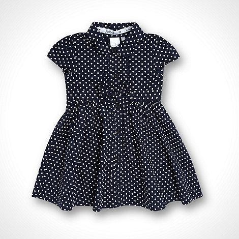 J by Jasper Conran - Designer Babies navy spotted shirt dress