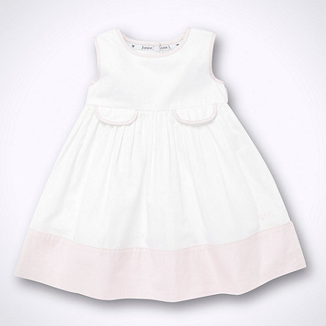 J by Jasper Conran - Designer Babies white piped day dress
