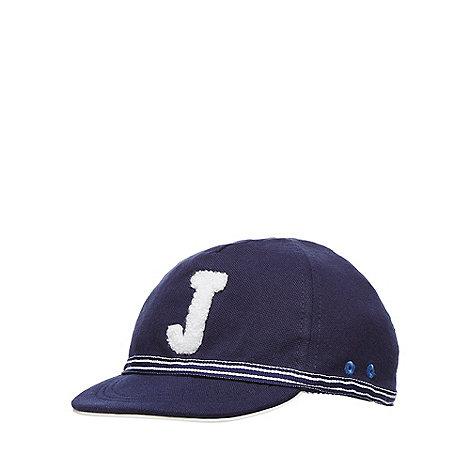 J by Jasper Conran - Baby boys+ navy logo cap