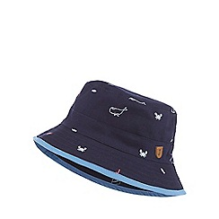 J by Jasper Conran - Baby boys' navy patterned fisherman hat
