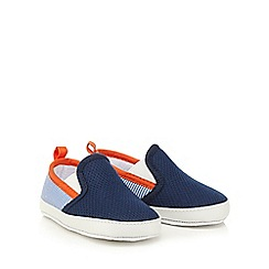 J by Jasper Conran - Baby boys' navy pique boat shoes