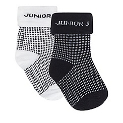 J by Jasper Conran - Baby boys' navy pack of two spot print socks
