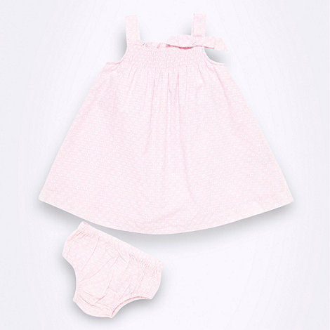 J by Jasper Conran - Designer Babies pink floral pinafore dress and briefs set
