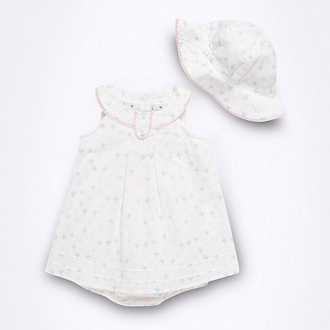 J by Jasper Conran - Designer Babies romper and hat set