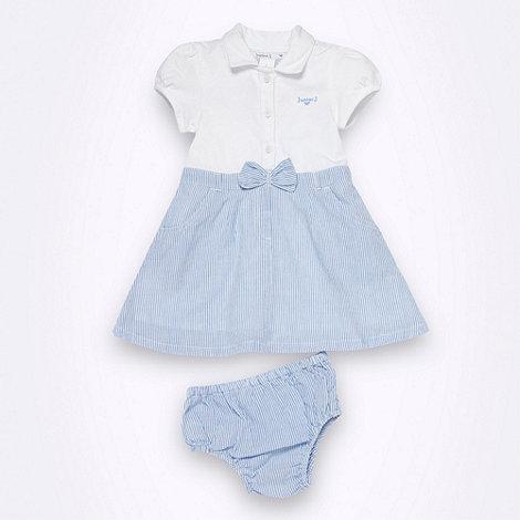 J by Jasper Conran - Designer Babies white polo shirt dress and briefs set