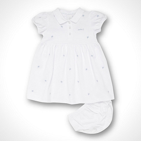 J by Jasper Conran - Designer Babies white embroidered tennis dress