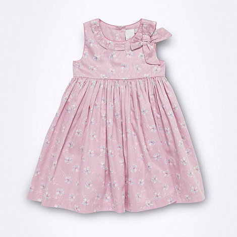 J by Jasper Conran - Designer Babies pink floral sateen dress
