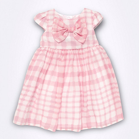 J by Jasper Conran - Designer Babies pink checked chiffon dress