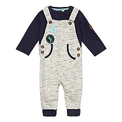 Mantaray - Boys' jersey badge dunagree and navy shirt