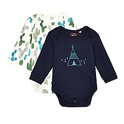 Mantaray - Pack of two baby boys' assorted printed bodysuits