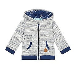 Mantaray - Baby boys' navy space dye zip through hoodie