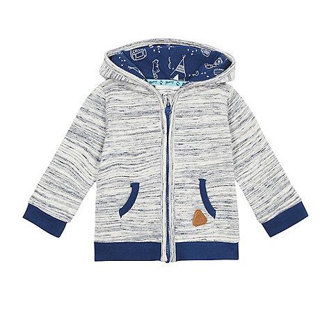 Mantaray - Baby boys+ navy space dye zip through hoodie
