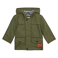 Mantaray - Baby boys' khaki button down rain mac