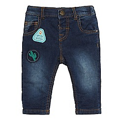 Mantaray - Baby boys' blue applique denim jeans