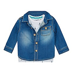 Mantaray - Baby girls' blue denim jacket and t-shirt