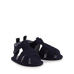 Mantaray - Baby boys' navy twill booties