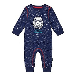 Star Wars - Baby boys' blue 'Star Wars' sleep onesie