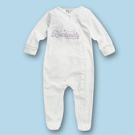 RJR.John Rocha - Designer Babies cream spotted velour baby grow