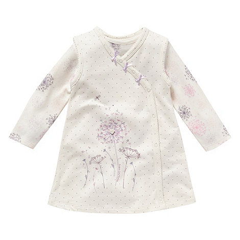 RJR.John Rocha - Designer Babies cream dandelion pinafore dress and bodysuit