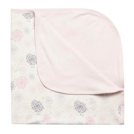 RJR.John Rocha - Designer Babies cream dandelion jersey blanket