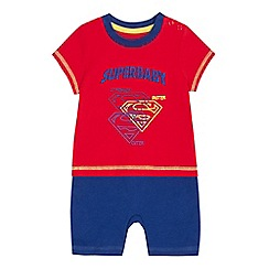 Superman - Baby boys' red 'Super baby' romper suit