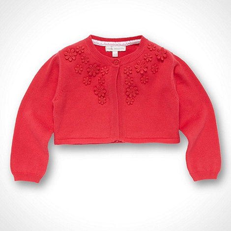 RJR.John Rocha - Designer Babies dark pink flower applique cardigan