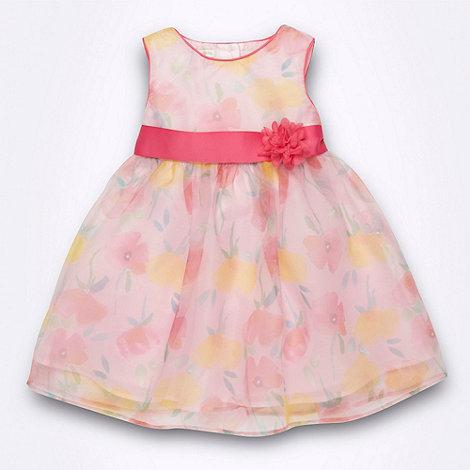 RJR.John Rocha - Designer girl+s pink floral dress