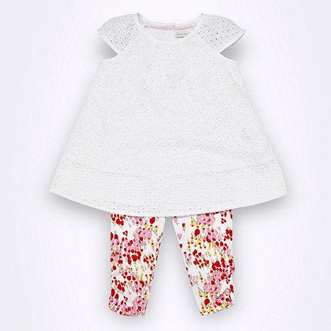 RJR.John Rocha - Designer Babies white broderie top dress
