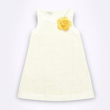 RJR.John Rocha - Designer Babies white embroidered flower dress