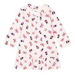 bluezoo - Baby girls' pink insect print dress