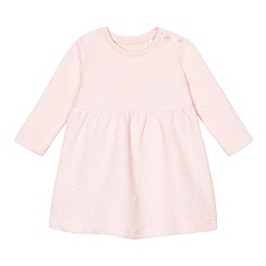 bluezoo - Baby girls' pink textured butterfly dress
