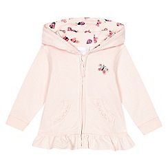 bluezoo - Baby girls' pink butterfly applique hoodie