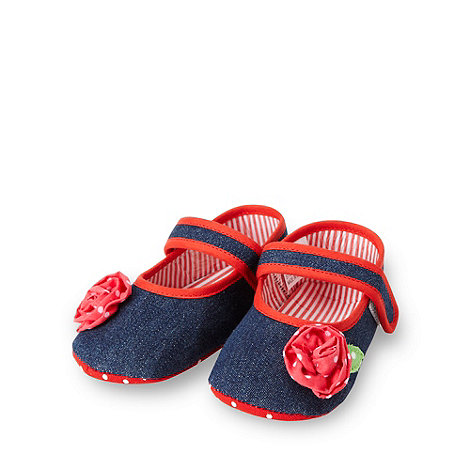 bluezoo - Babies navy denim booties