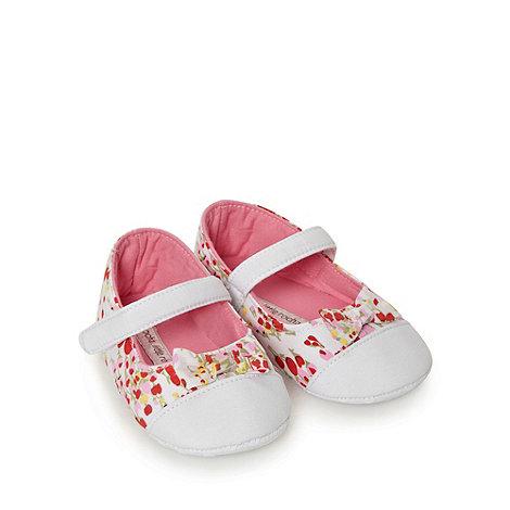 RJR.John Rocha - Designer Babies pink floral booties