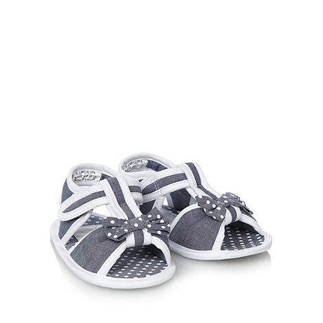 J by Jasper Conran - Designer Babies navy chambray bow sandals