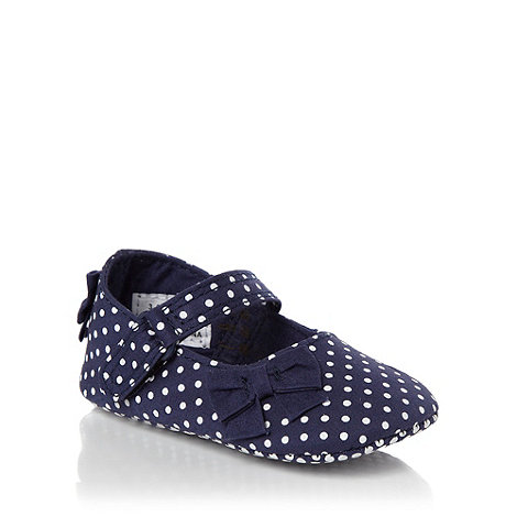 J by Jasper Conran - Designer girl's navy spotted booties