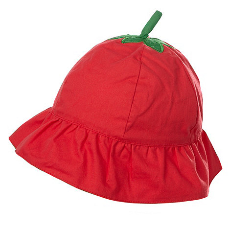 bluezoo - Babies red strawberry bucket hat