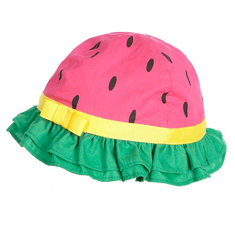 bluezoo - Babies pink watermelon bucket sun hat