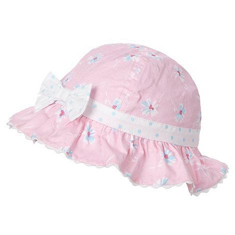J by Jasper Conran - Designer Babies pink floral bucket sun hat